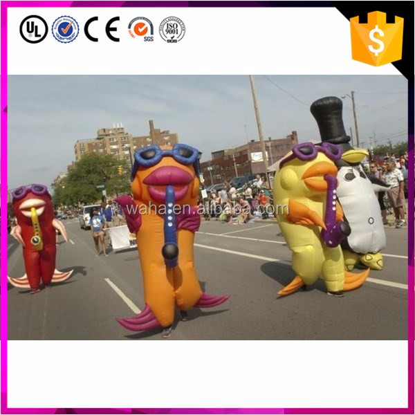 Moving inflatable cartoon/promotion parade,holiday promotion