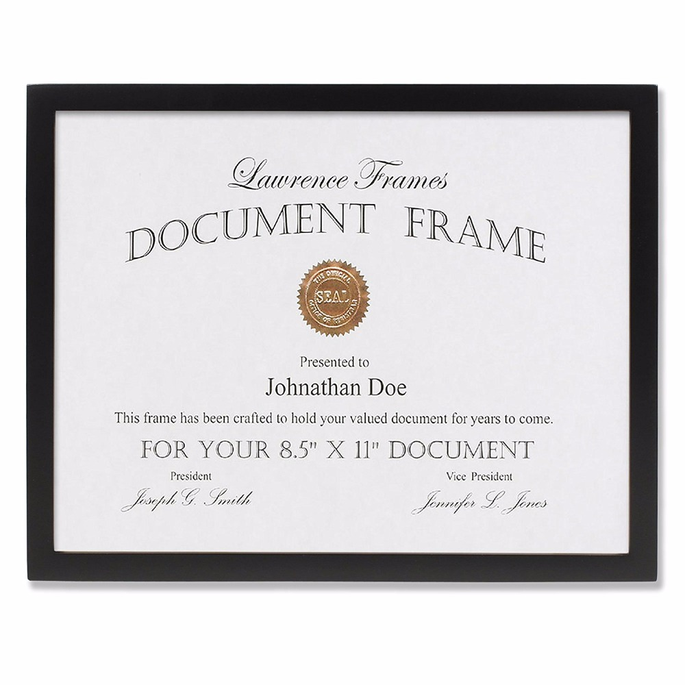 Gallery Collection Black Wood Certificate Picture Frame