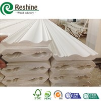 Thin Gesso Coated Decorative Primed Wooden Molding