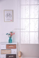 factory wholesale popular design flower embroidery lace curtain fabric