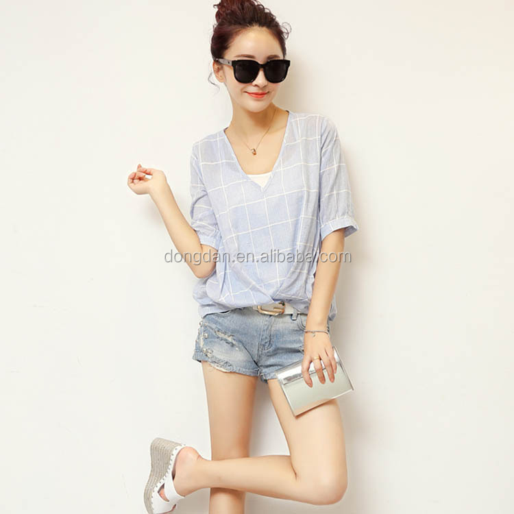 fashion summer girls women blank t shirt china wholesale cheap price