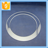 Clear quartz glass flange or quartz ring