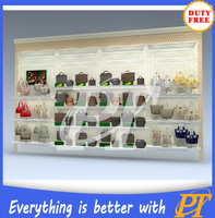 bags shop display shelf, bag showroom display stand, handbag display showcase design
