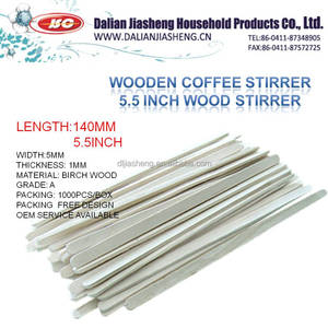 "5.5"" WOODEN 140 COFFEE STIRRER 1000PCS PER BOX COFFEE SKEWER"