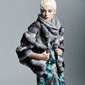 Real Python Leather Mix Chinchilla Fur Coat Sutle Patch Work Fur Coat