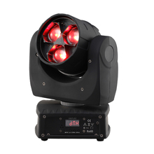 3PCS 4in1 rgbw 15w led zoom wash moving head for spot stage lighting