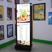 standing display indoor shop led advertising signs aluminum frame profile ground standing light box