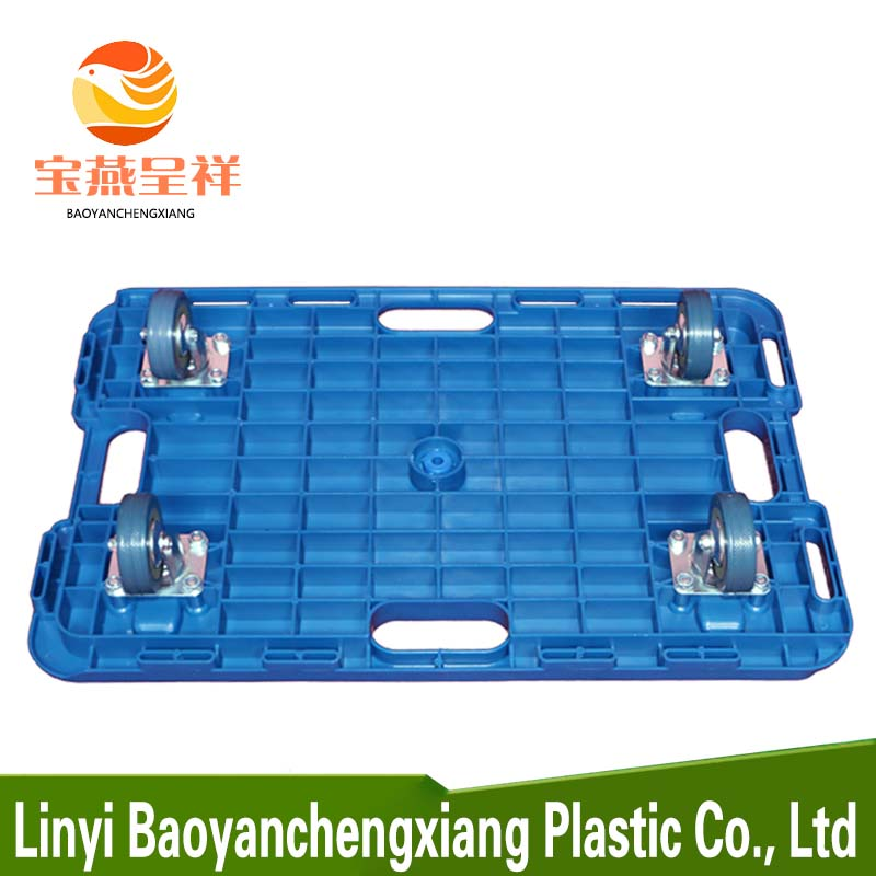 Hot sale plastic pallet with wheels price