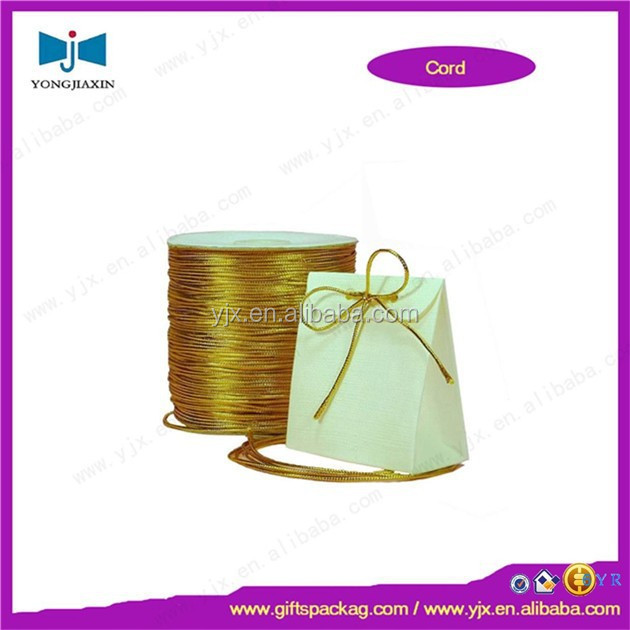 Shiny gold elastic cord for jewelry