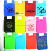 Hot 3M Sticker Mobile Phone Silicone Name Card Case, Silicone Wallet