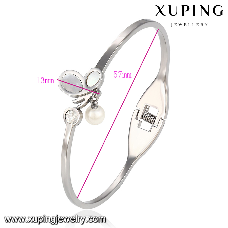 51511 xuping wholesale fashion stainless steel jewelry women 10 gram gold bangles price
