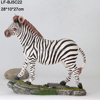 polyresin zebra table decoration animal figurine,resin animal figurine
