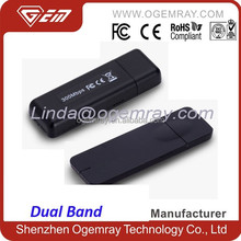 2.4G/5G Dual band 300Mbps high speed USB wifi dongle
