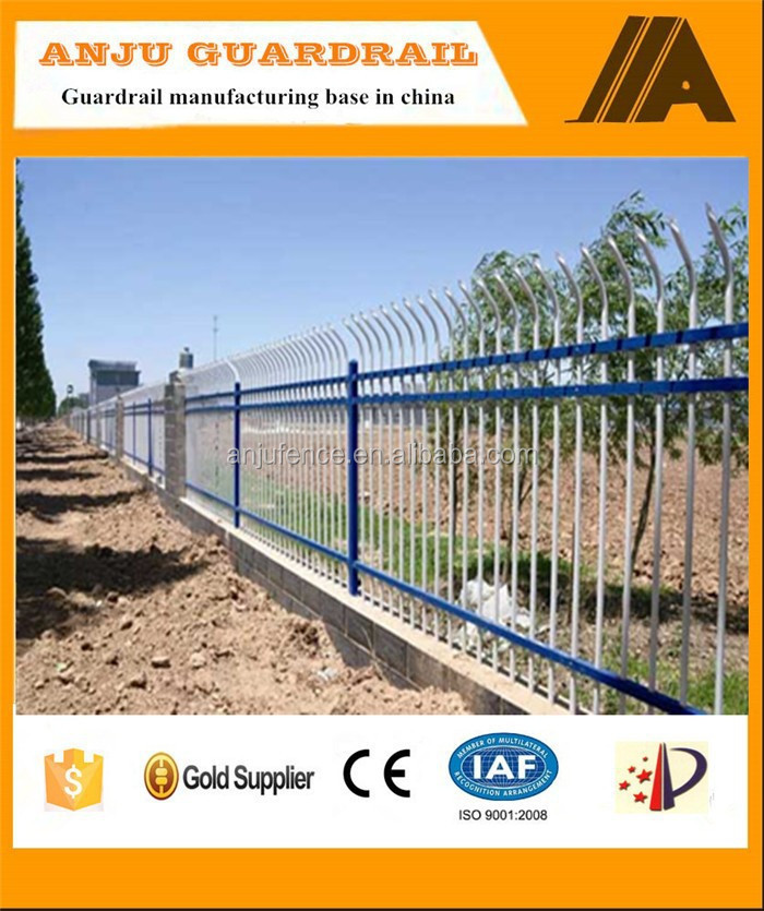 Decorative yard spearhead top metal fence panel DK015