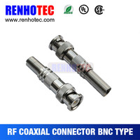 RF Coaxial RG59 Male Plug Screw BNC Connector