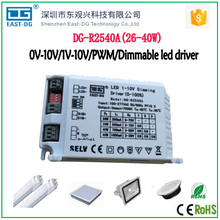 EDGE R2540 0-10v/1-10v/pwm dimming function 40w constant current led dimmable driver for led light 12v 1A switch power supply