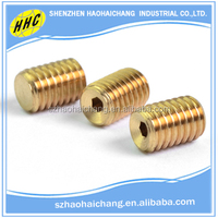 Top selling super quality low cost custom cylindrical thread copper hollow screw