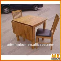 Extend oak wood dinning table/chairs
