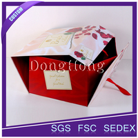 Recyclable cardboard paper packaging luxury flower box
