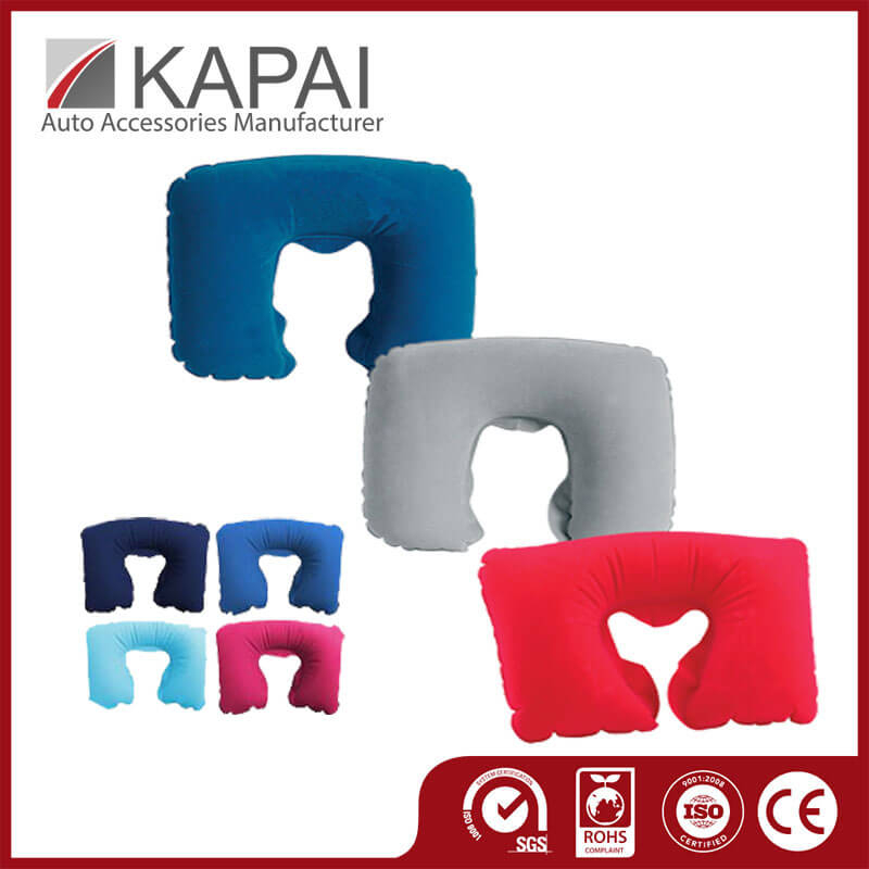Ergonomically Design Inflatable Neck Pillow Neckrest Cars Travel Pillow