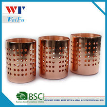 Kitchen storage stainless steel copper plating utensil holder