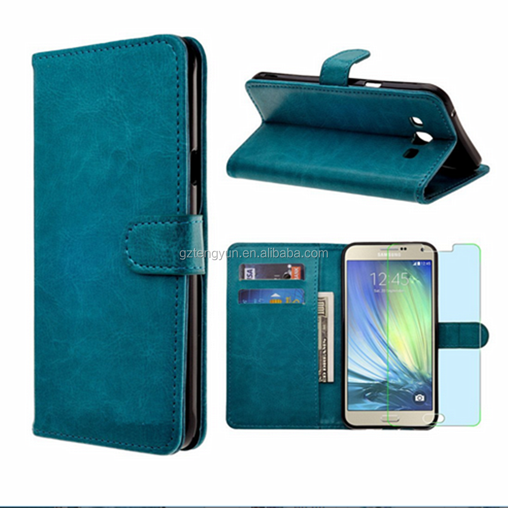 Hot design crystal pattern pu leather design cover case for samsung galaxy A8