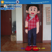 Happy teenage boy anime cartoon japanese style asian culture promotion friendly guy high quality custom mascot costume