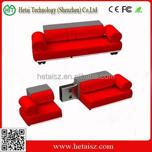 couch shaped usb flash drive, sofa usb memory china, sofa shape usb 1tb