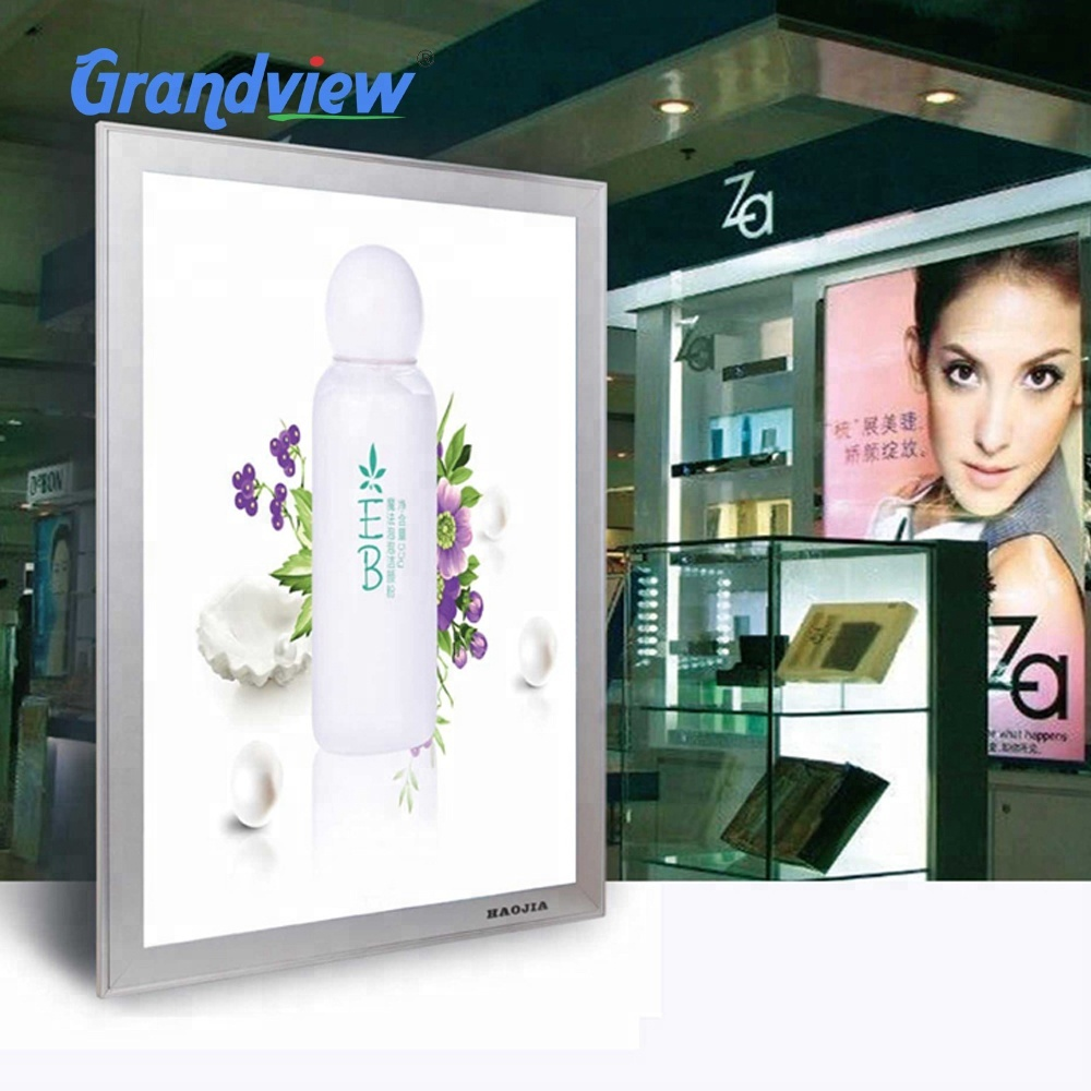 Window display A1 aize aluminum poster frame snap ultra thin <strong>advertising</strong> metal lighting Led light box