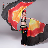 American Tribal Style Belly Dance Costume For Kids 3 pieces Bra Belt Pants