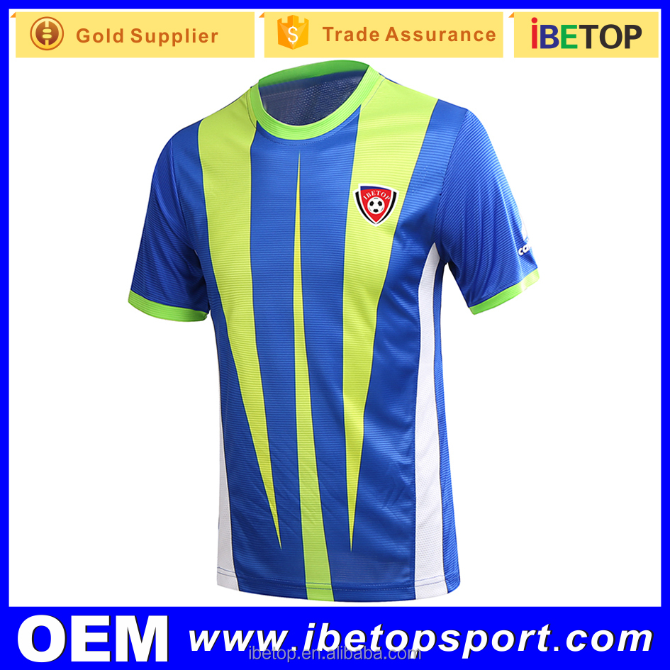 Custom sport wear 100% polyester customized soccer jersey manufacturer