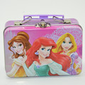 Rectangular small cartoon printing tin can,Storage tin box with handle