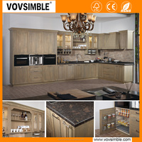 modern solid wood kitchen cabinet