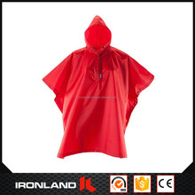 2017 wholesale adult's high quality motorcycle polyester pvc raincoat poncho