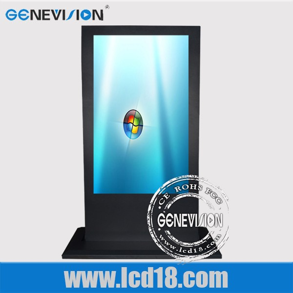 65 inch high resolution touch screen advertising display,3g/network/wifi lcd digital signage player