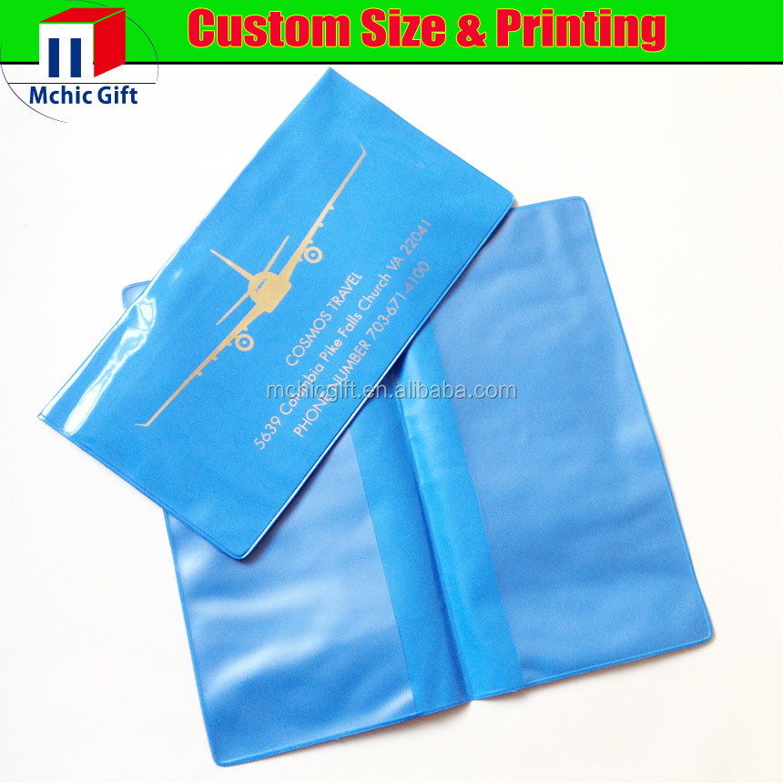 cheap plastic soft pvc ticket holder / pvc tiecket folder / air ticket wallet