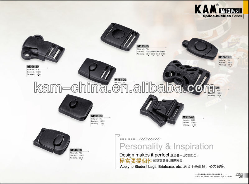 Plastic adjustable side release buckles