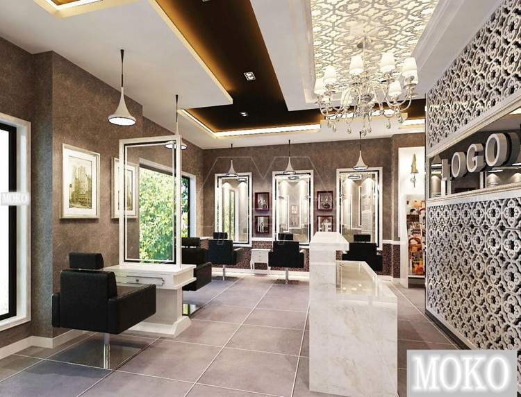 Luxe mat riel salon de coiffure cheveux guangzhou bois - Salon de coiffure luxe ...