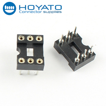 IC socket header connector double rows 6 pin 2.54mm pitch ic socket connector