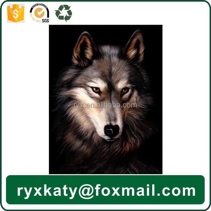 3d hot sale animal wolf tiger dog picture