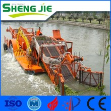 Full-automatic diesel guidato aquatic weed harvester