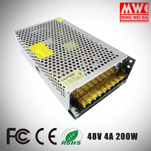 S-200-48 ac/dc 200w 48v 4a switch power supply single output From China factory