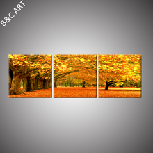 Famous Nature Paintings Catering Decorations Artificial Red Maple Tree