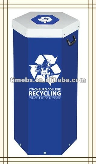 LOW PRICE corrugated pp fluted recycle bin,waste bin,trash bin