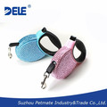 Bling Bling pet product small retractable dog leash