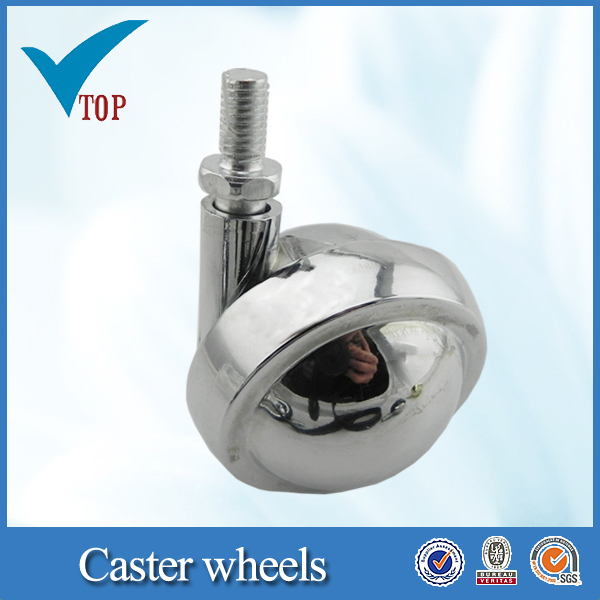 Polished shining zamak bar cart caster wheel for Hotel supplies