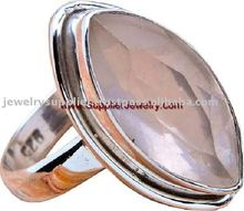 925 Sterling Rose Quartz Wedding Ring Suppliers Indian Jewellery 925 Silver Jewelry Rings