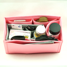 Lowest MOQ durable bag organizer insert purse handmade felt makeup caddy made in China