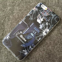 Kuso dismantle back cover broken screen phone case