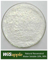 Manufacturer Supply Water Soluble 10%, 98% Resveratrol Powder